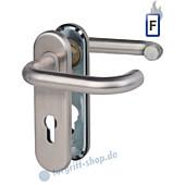 Paula-KS Feuerschutzgarnitur Drücker/Drücker, PZ 9 mm Edelstahl matt Südmetall