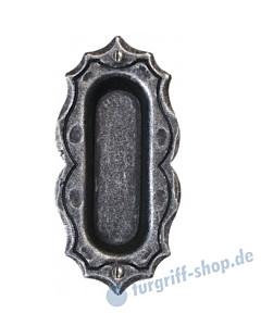 001 Muschelgriff oval rustikal schwarz passiviert von Halcö
