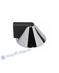 Türstopper kegelförmig mit Gummipuffer für die Bodenmontage Chrom von Intersteel