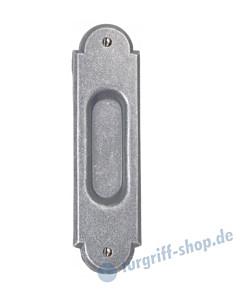 002 Muschelgriff oval verziert antik grau thermopatiniert von Halcö