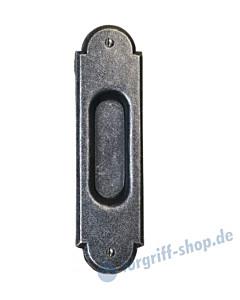 002 Muschelgriff oval verziert schwarz passiviert von Halcö