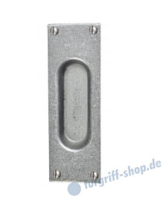 006 Muschelgriff rechteckig antik grau thermopatiniert von Halcö
