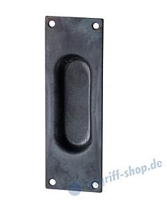 006 Muschelgriff rechteckig Schwarzstahl von Halcö
