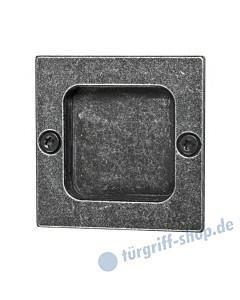 011 Muschelgriff quadratisch schwarz passiviert von Halcö