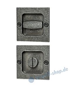 015 Muschelgriffset quadratisch für WC schwarz passiviert von Halcö