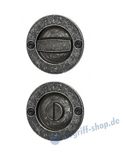 014 Muschelgriffset rund für WC schwarz passiviert von Halcö