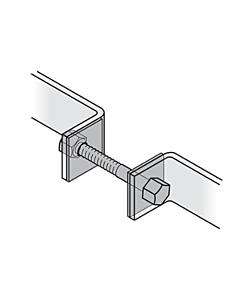 Befestigungs-Set f. FSB-Stossgriffe-paarweise durchgehend (MHK)