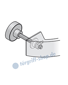 Befest.-Set für FSB Stossgriff oval | 05-0580 | einseitig durchgehend MHK-Tür