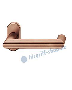 09-1016 Türdrücker -gerade- auf Rahmenrosette Bronze von FSB - Objekt