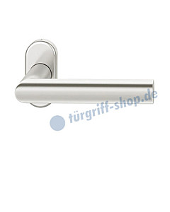 09-1108 Türdrücker -gerade- auf Rahmenrosette Alu F1 FSB - Objekt