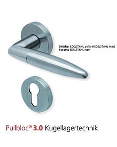 1007 Halbgarnitur PZ PullBloc 3.0 Edelstahl matt o. poliert Scoop