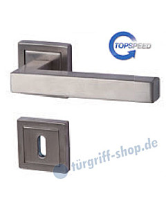 Galina II Square-R Rosettengarnitur Edelstahl-matt TopSpeed Südmetall