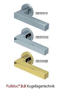 1002 Rosettengarnitur Pullbloc 3.0 Edelstahl oder PVD Messing von Scoop