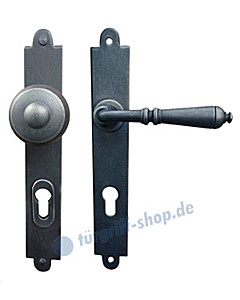 Freiburg LS Haustürgarnitur mit Sicherheitsrosette Hardox® Galbusera
