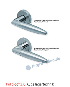 1007 Rosettengarnitur Pullbloc 3.0 Edelstahl poliert/matt von Scoop