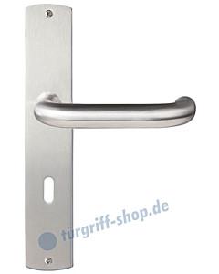 Monza Langschildgarnitur Nickel matt/Edelstahl matt Griffwelt