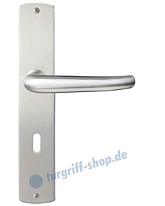 Bergamo Langschildgarnitur Nickel matt/Edelstahl matt Griffwelt