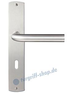 Imola Langschildgarnitur Nickel matt/Edelstahl matt Griffwelt