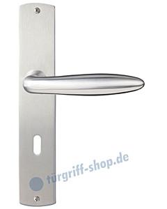 Ancona Langschildgarnitur Nickel matt/Edelstahl matt Griffwelt