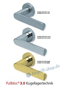 1008 Rosettengarnitur Pullbloc 3.0 Edelstahl oder PVD Messing von Scoop