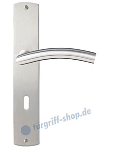 Pisa Langschildgarnitur Nickel matt/Edelstahl matt Griffwelt