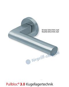 1011 Rosettengarnitur Pullbloc 3.0 Edelstahl matt von Scoop