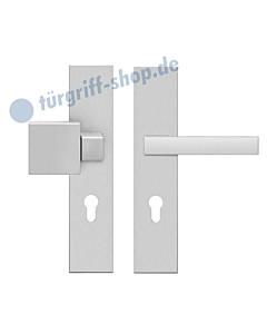 Schutzgarnitur ESG675Q Langschildgarnitur ES1 Knopf / Drücker Edelstahl matt von Karcher