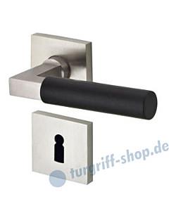 Bauhaus R371 Rosettengarnitur Ultra Mattnickel/Ebenholz Jatec