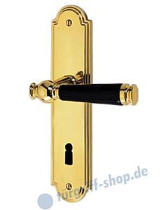 Sanssouci S990 Langschildgarnitur Ultra Messing/Schwarz Jatec