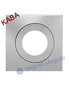 Rosette EZ 1340 quadrat. Ros. Kaba mittig Edelstahl-matt Karcher