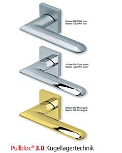 1021 Quadrat-Rosettengarnitur Pullbloc 3.0 in Edelstahl oder PVD Messing Scoop