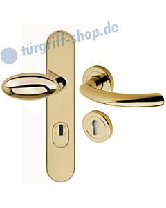 Schutzgarnitur 957-348 KZS | Drücker Avance Ultra Messing Jatec