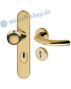 Schutzgarnitur 957-914 KZS | Drücker Avance Ultra Messing Jatec