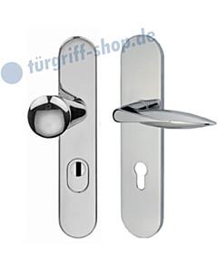 Schutzgarnitur 952-914 mit Kernziehschutz ES2 Chrom von Jatec