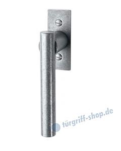 105 Fenstergriff mit eckiger Rosette, mit Rasterung Multitac®, Stift 7 x 35 mm, Antik-Grau thermopatiniert von Halcö