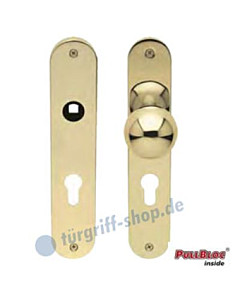WE Knopf zentriert auf LS-Paar PZ PVD Messing-pol. 8 mm Vierkant Scoop