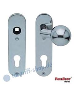 WE Knopf gekröpft auf KS-Paar PZ Edelstahl-pol 8 mm Vierkant Scoop