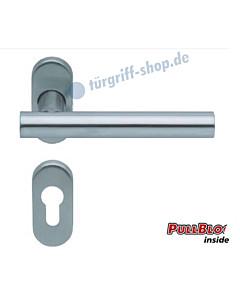 1074 (Roxy) Rosettengarnitur oval PullBloc, Edelstahl K4 von Scoop