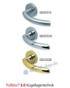 1085 Rosettengarnitur Pullbloc 3.0 Edelstahl oder PVD Messing von Scoop