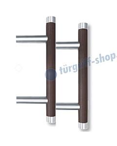 Stossgriffpaar 1089HW Griffstange mit geraden Stützen 90°, mit Holz und Edelstahl von Spitzer