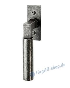 110 Fenstergriff mit eckiger Rosette, mit Rasterung Multitac®, Stift 7 x 35 mm, schwarz passiviert von Halcö
