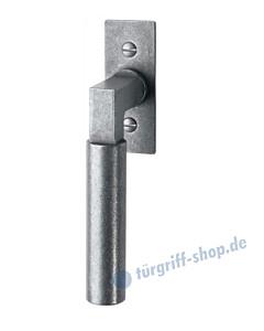 110 Fenstergriff mit eckiger Rosette, mit Rasterung Multitac®, Stift 7 x 35 mm, Antik-Grau thermopatiniert von Halcö