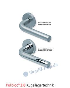 1100 Rosettengarnitur Pullbloc 3.0 Edelstahl matt oder poliert von Scoop
