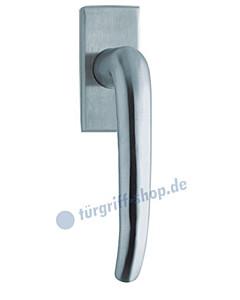 1103 (Dragon) Fenstergriff eckige Olive, Edelstahl o. PVD Messing-poliert Scoop