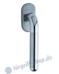 1173 (Tanja) Fenstergriff oval Edelstahl matt/poliert von Scoop