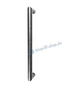 119-156 Bügelgriff für Schiebetür Länge 374 mm, inkl. Befestigungsset schwarz passiviert von Halcö