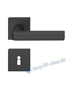 12-1004 quadratische Rosettengarnitur ASL® in Alu gestrahlt farbig eloxiert in verschiedenen Farben von FSB