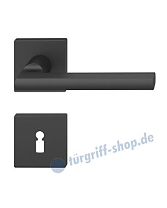 12-1035 quadratische Rosettengarnitur ASL® in Alu gestrahlt farbig eloxiert in verschiedenen Farben von FSB