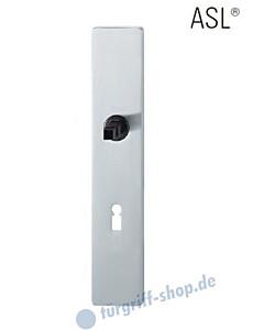 12-1410 eckiges Langschild ASL® mit BB-Lochung, 72 mm, Vierkantaufnahme 8 mm, Edelstahl feinmatt FSB