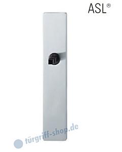 12-1410 eckiges Langschild ASL® ohne Lochung (blind), 72 mm, Vierkantaufnahme 8 mm, Edelstahl feinmatt FSB
